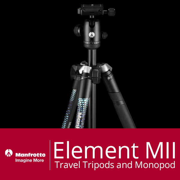 cs manfrotto element mii travel tripods and monopod