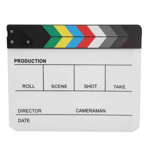 Acrylic Director Scene Clapperboard TV Movie Action Board Film Cut Prop with Pen Clap Board.jpg q50 3